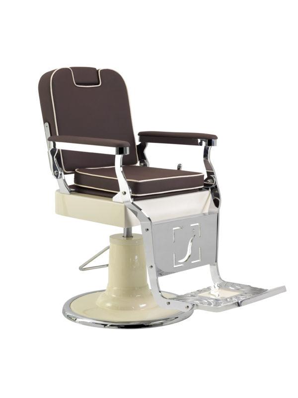 Barber Chair | Elegance | Herren Friseurstuhl | Classic Lux | Handmade | Friseur Barber chair | Braun-Creme