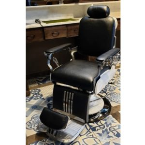 Barber Chair Majesty Schwarz & Weiß | Barbersconcept | Barberfurniture