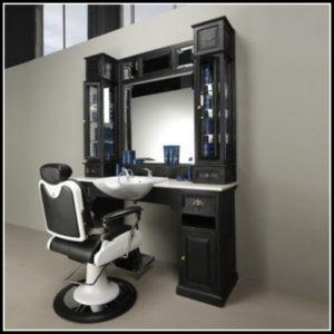Klassische Friseurmöbel Schwarz | Barberfurniture | Barbersconcept
