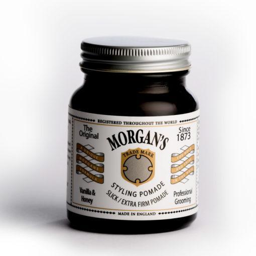 Morgan´s Pomade Starker Halt Vanilla & Honey 100 Morgan´s Pomade Starker Halt Vanilla & Honey 100   Exklusive Pomadenmischung, stark glänzend und mit lang anhaltendem hohen Halt und Präzision. Wasserlöslich und leicht auswaschbar. Mit unserer eigens entwickelten Duftnote von Bergamotte, Jasmin, Sandelholz und Patschuli.