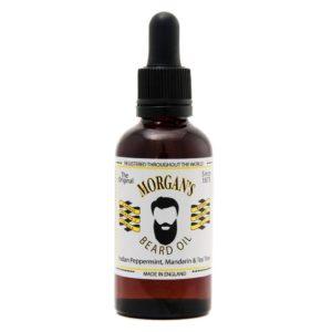 Morgan´s Natural Beard Oil | 100% ig natürliche Ölmischung, um Gesichtshaar und Haut aufzubauen. Enthält indisches Pfefferminz-, Mandarinen- und Teebaumöl.