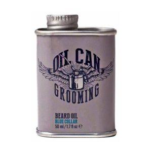 Oil Blue Collar   BEARD OIL - BLUE COLLAR ÖL FÜR DEN BART OIL CAN – GESCHMIEDET FÜR DICH.   Barbersconcept