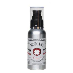 Morgan´s 3-in-1 | Das perfekte Reise-Zubehör. Shampoonieren, waschen, rasieren mit Morgan's 3-in-1, belebend und erfrischend, vielseitige und effektive Rezeptur, die leicht zu handhaben ist.