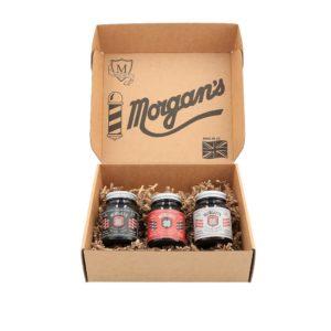 Morgan's Pomade Gift Box | Schöne Geschenkbox bestehend aus den 3 Highlights: Pomade mittlerem Halt und Glanz/ starker Halt/ starker Glanz und extra starkem Halt / für glatte Frisuren.